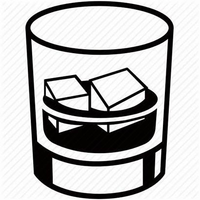 Whiskey Glass Icon Liquor Spirits Ice Alcohol