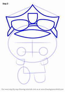 Step By Step How To Draw Policeman Bruce From Pucca