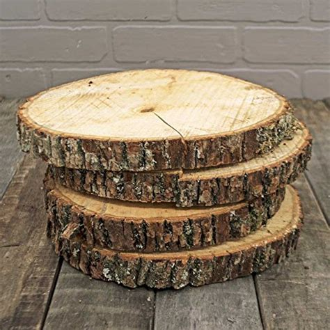 Natural Wood Slices, Round Basswood Slabs, 9 to 11 inches