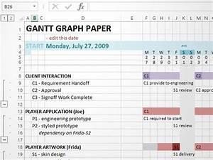 Manual Gantt Charting In Excel Dave Seah