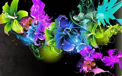 Butterfly Fluorescent Colorful Background Desktop Abstract Wallpapers