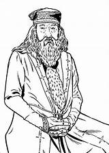 Coloring Pages Hogwarts Potter Harry Magic Principal Colouring Dumbledore sketch template