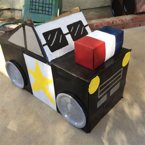 box car for kids diy cardboard box cop car carnival costume ideas