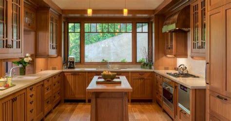 shaped kitchen natural wood beadboard cupboard doors