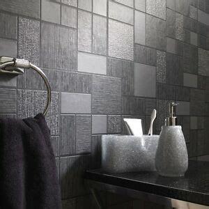 black glitter tile wallpaper kitchen  bathroom tiling