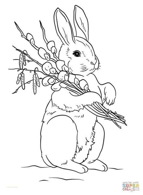 awesome  cute easter bunny coloring pages printable