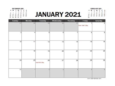 calendar planner australia excel  printable