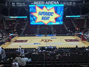 Reed Arena Seating Chart Reed Arena Section 105 Rateyourseats Com