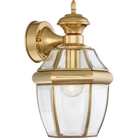 patriot lighting 174 carriage 14 quot polished brass 1 light