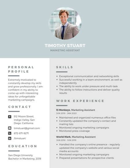 Create Free Professional Resume by Customize 1 078 Resume Templates Canva