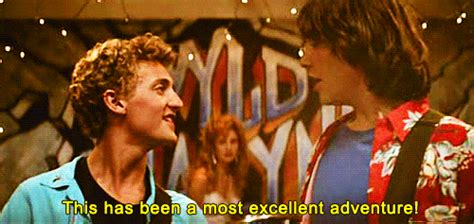 Bill And Teds Excellent Adventure Two Boys Talking Gif