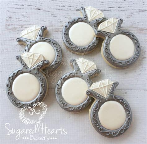 anniversary engagement wedding ring cookies 1 dozen
