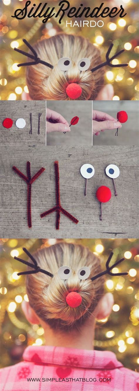 diy silly reindeer hairstyle pictures   images