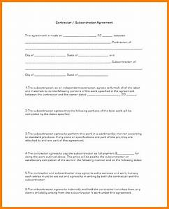 10 subcontractor agreement template cashier resume With contract for subcontractors template