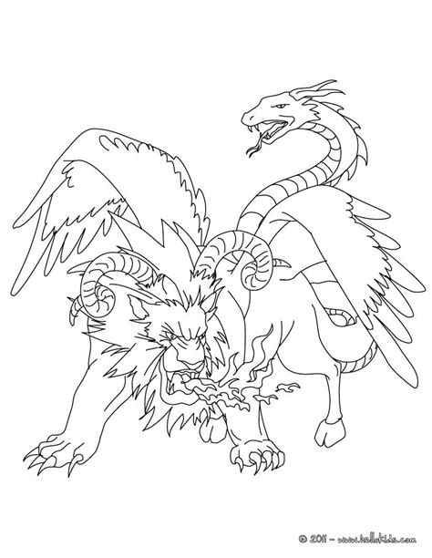 Chimera Template by Chimeras Are Classic All Around This Free Coloring Page