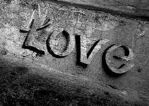 Photo Print Black and White Love Steps Graffiti 5X7 Fine Art