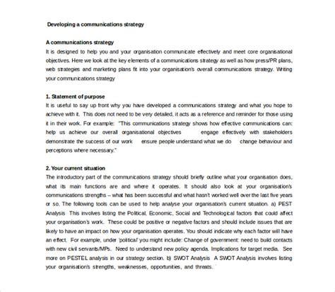 communication strategy template 11 communication strategy templates free sle exle format free premium
