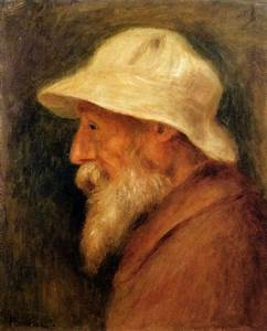Self-Portrait with a White Hat, 1910 - Pierre-Auguste ...