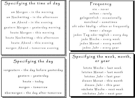 Essential German Time Phrases And Expressions  Learn German,german,communication,vocabulary