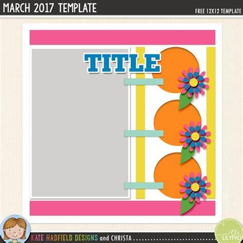 digital scrapbooking template march challenge