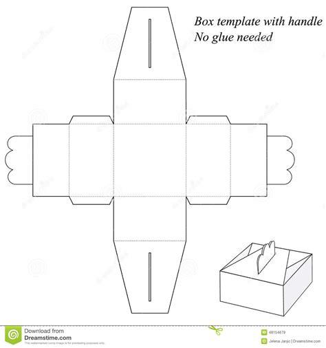 gift box  handle  gluing stock vector image