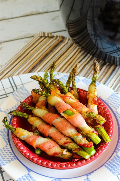 bacon air fryer asparagus wrapped ricardo angela