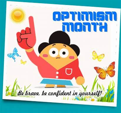 Brave Confident Month Optimism Card Cards