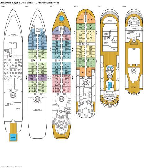 seabourn legend deck plans cabin diagrams pictures