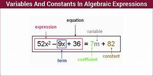 Algebraic Expressions | Variables And Constants | Math ...