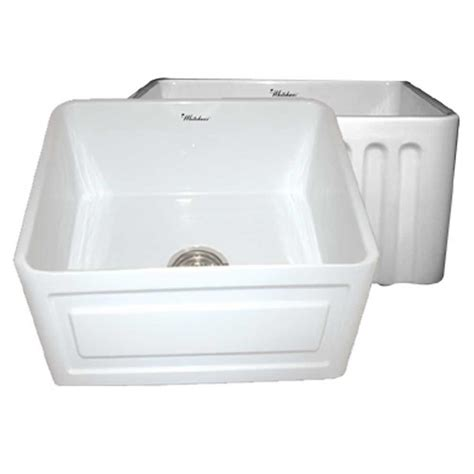 white single bowl kitchen sink whitehaus collection raised panel reversible farmhaus