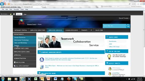 Sharepoint Portal Templates by Sharepoint Intranet Portal From Sp Marketplace