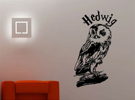 Harry Potter Owl Hedwig Wall Art Sticker Vinyl Quote Kids
