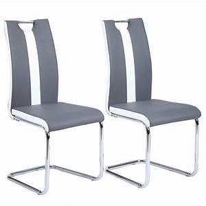 jade lot de 2 chaises de salle a manger en simi achat With salle À manger contemporaineavec chaises grises salle À manger