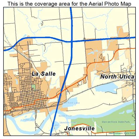 aerial photography map of la salle il illinois