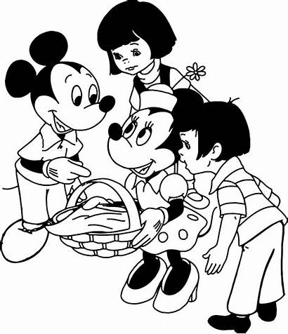 Mickey Mouse Coloring Pages Minnie Disney Para