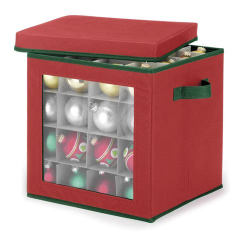 whitmor red ornament storage cube ornament storage and