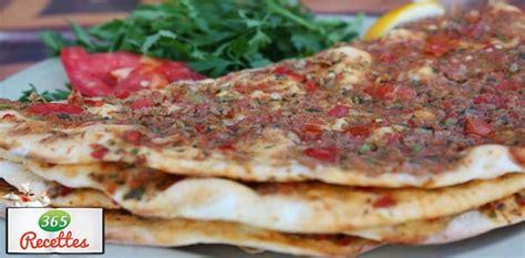 cuisine turc facile recette facile pour cuisiner la pizza turque fait maison