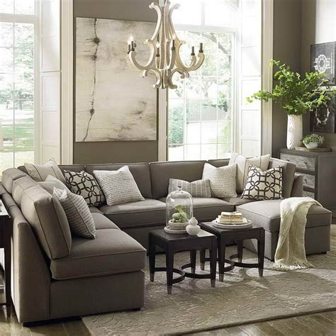 Living Room Gray Sofa by Furnitures Comfy Large Gray U Shaped Sectional Sofa