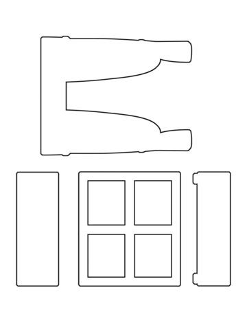 Window Dressing Die Collection | Templates - Houses