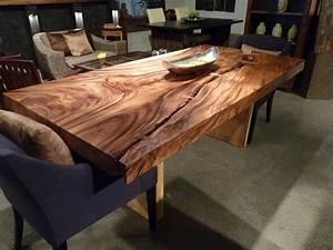 Table De Cuisine En Bois : table bois exotique table de lit ~ Teatrodelosmanantiales.com Idées de Décoration