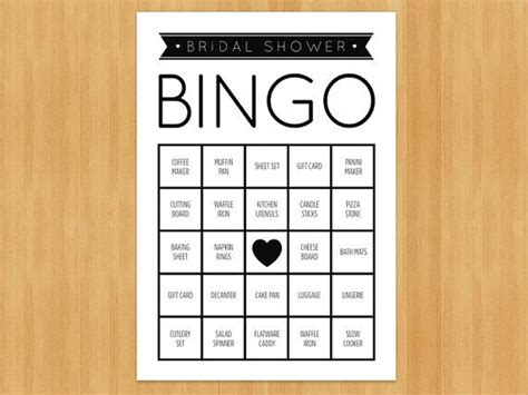 printable bridal shower bingo game 60 cards in set diy