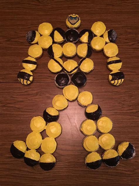 transformer bumblebee cupcake cake  birthday trans