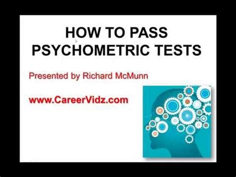 How To Pass Psychometric Tests Youtube