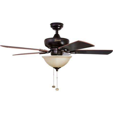 Honeywell Woodcrest Ceiling Fan, Oil Rubbed Bronze Finish