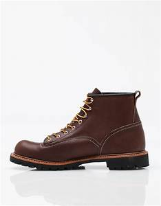 Red Wing Shoes France : red wing roughneck leather moc toe boots in brown for men lyst ~ Melissatoandfro.com Idées de Décoration