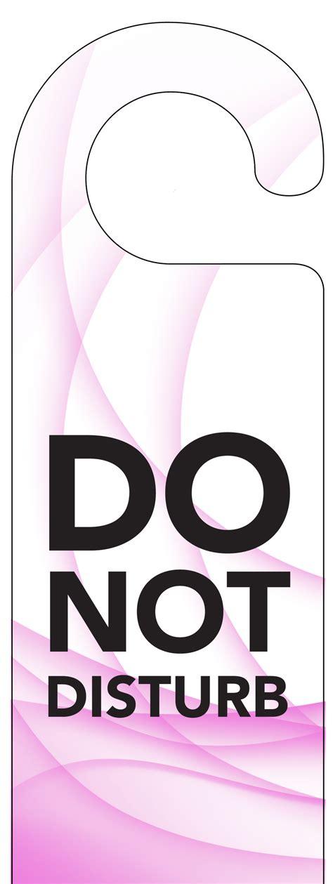 Free Do Not Disturb Door Hanger Template by Printable Do Not Disturb Signs Clipart Best