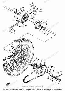 Yamaha Motorcycle 1969 Oem Parts Diagram For Rear Wheel