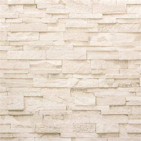 wallpaper stone stones wall brick beige cream ps