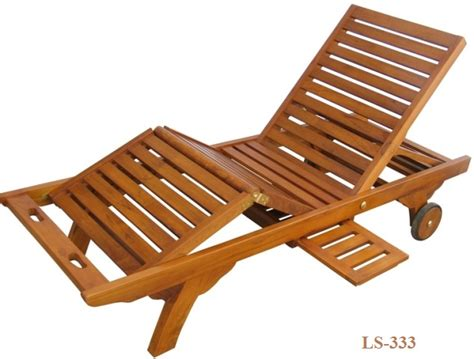 reclining teak wood lounger ls 333 zebano