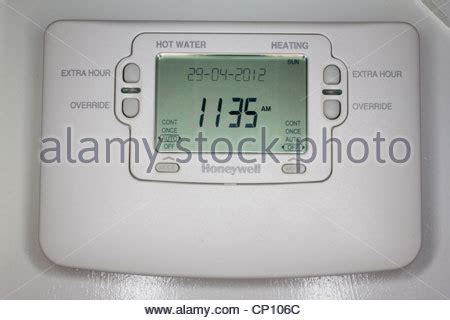 bearded heat l timer central heating timer stock photo royalty free image